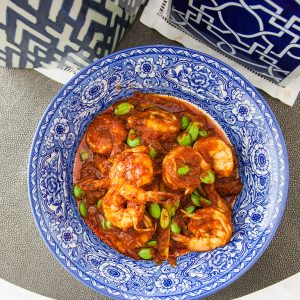 spicy prawn and petai