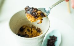Chocolate Chip Teh Tarik Mug Cake